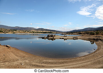 Burguillo Reservoir in Iruelas Valley Natural Reserve, Avila, province Castilla y Leon, Spain