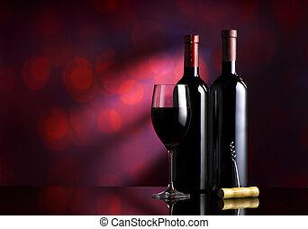burgundia, háttér, bor
