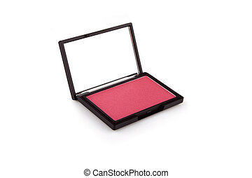 Burgundy red blush isolated on white