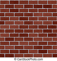 Burgundy Red Clay Brick Wall Seamless Texture