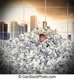 Buried businessman