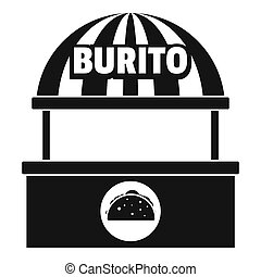 Burito selling icon, simple style.