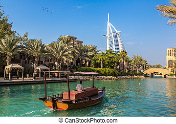 Burj Al arab and Madinat Jumeirah - DUBAI, UAE - NOVEMBER...