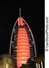 Burj Al Arab at night