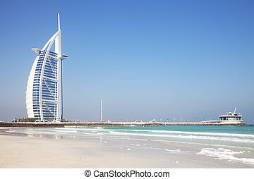 Burj Al Arab, Dubai, UAE - Image of a unique iconic...