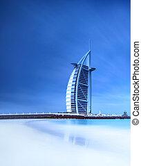 burj al arab, hotel, képben látható, jumeirah, tengerpart,...