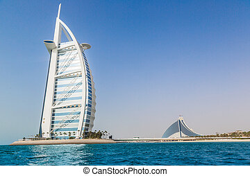 Burj Al Arab is a luxury 5 stars hotel - DUBAI, UAE -...
