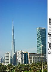 burj, dubai, (burj, khalifa), supra-sumo, rascacielos, en, el mundo