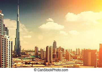 burj, dubai, -, najwyższsoki, gmach, w, świat, na, 828m., dubai, uae