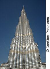 burj, khalifa, -, de, hoogst, wolkenkrabber, in, de, world., dubai, verenigde arabische emiraten