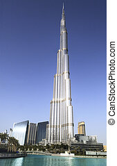 Burj Khalifa, Duba?, United Arab Emirates - Dubai skyline...