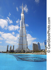 Burj Khalifa in Dubai. The tallest building in the world, at...