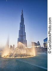 burj, khalifa, jest, przedimek określony przed rzeczownikami, najwyższsoki, gmach, w, świat, uae