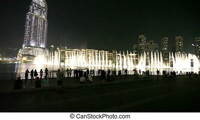 Burj Khalifa Performing Fountain (Dubai). The United Arab...