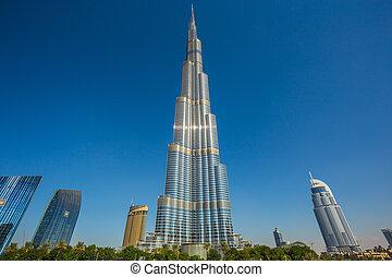 burj, khalifa, przedimek określony przed rzeczownikami, najwyższy, gmach, w, świat