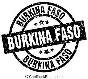 Burkina Faso black round grunge stamp