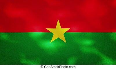 Burkina Faso dense flag fabric wavers, perfect loop for background