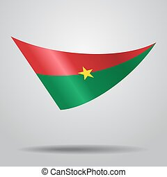 Burkina Faso flag background. Vector illustration. - Burkina...