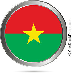 Burkina Faso flag button.