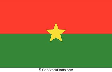 Burkina Faso flag. Simple vector. National flag of Burkina Faso
