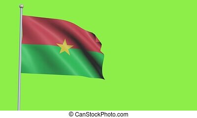 Burkina Faso Flag Slow Motion