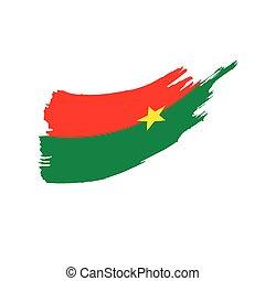 Burkina Faso flag, vector illustration on a white background