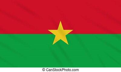 Burkina Faso flag waving cloth, ideal for background, loop