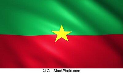 Burkina Faso Flag waving in the wind