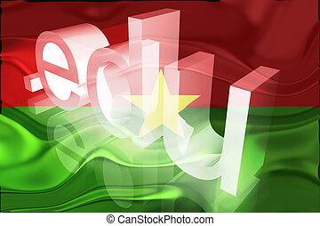 Burkina Faso flag wavy education - Flag of Burkina Faso,...