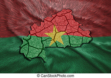 Burkina Faso Map - Map of Burkina Faso in National flag ...