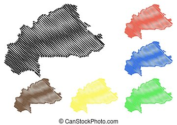 Burkina Faso map vector
