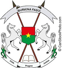 Burkina Faso National Emblem vector