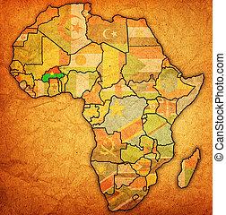 Burkina faso on actual map of africa Burkina faso on actual