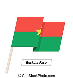 Burkina Faso Ribbon Waving Flag Isolated on White. Vector ...