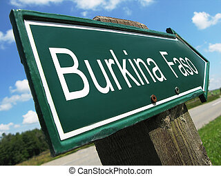 Burkina Faso road sign