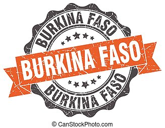Burkina Faso round ribbon seal