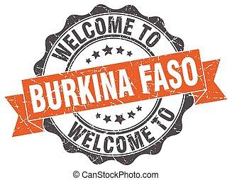 Burkina Faso round ribbon seal