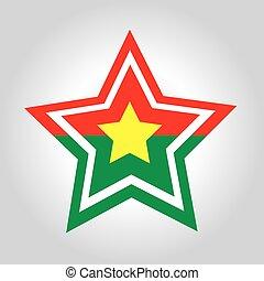 Burkina Faso Star Flag