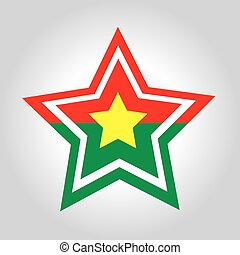 Burkina Faso Star Flag