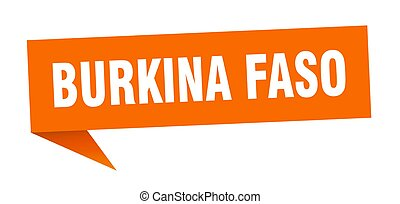 Burkina Faso sticker. Orange Burkina Faso signpost pointer ...