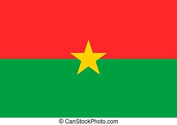 Burkina Faso vector flag. Ouagadougou