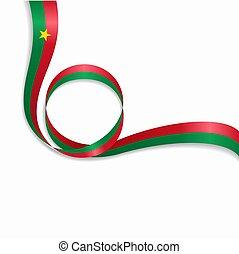 Burkina Faso wavy flag background. Vector illustration. -...