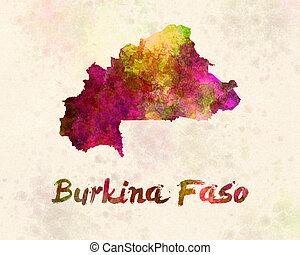 Burkina in watercolor