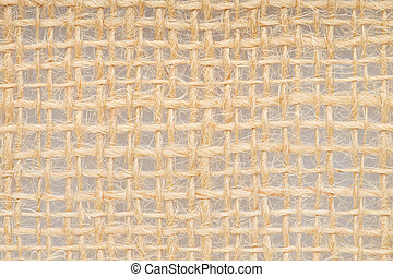 Burlap, brown fabric background