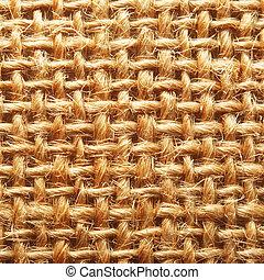 burlap closeup - macro shot of a burlap texture