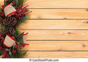 burlap, festivo, rústico, arcos, borda, natal