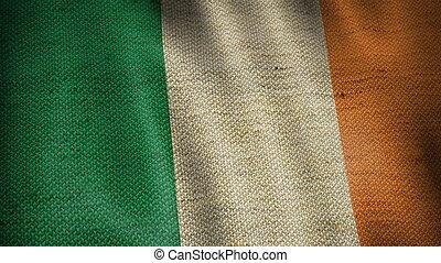 Burlap Flag of Ireland.