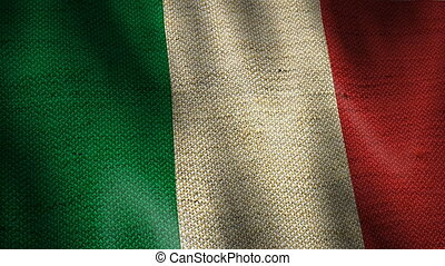 Burlap Flag of Italy.