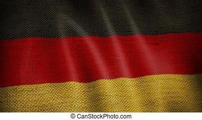 Burlap German Flag.