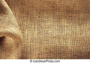 burlap hessian sacking as background texture